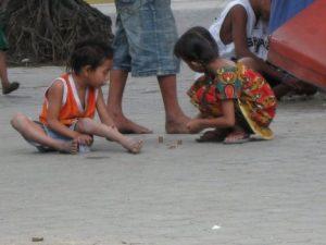 children in street